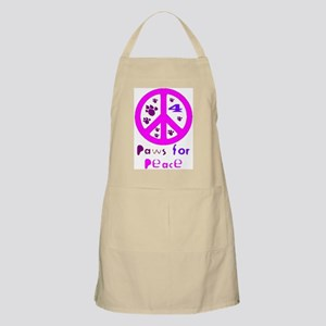 Paws for Peace Pink BBQ Apron