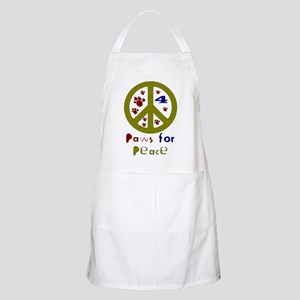 Paws for Peace Olive BBQ Apron