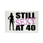 Still Sexy At 40 Years Old Rectangle Magnet (100 p