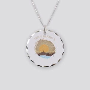 There Is No Planet B Environ Necklace Circle Charm