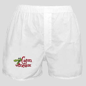 Cajun Wineaux gator Boxer Shorts