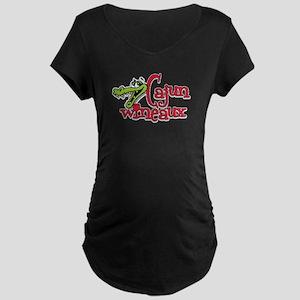 Cajun Wineaux gator Maternity Dark T-Shirt