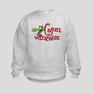 Cajun Wineaux gator Kids Sweatshirt