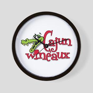 Cajun Wineaux gator Wall Clock