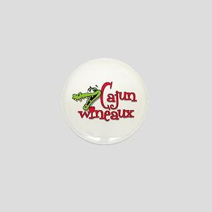 Cajun Wineaux gator Mini Button