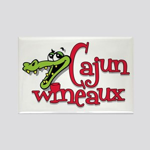 Cajun Wineaux gator Rectangle Magnet