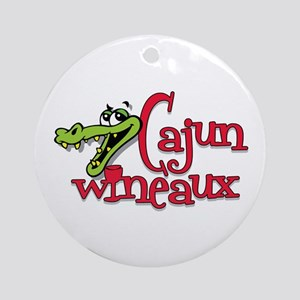 Cajun Wineaux gator Ornament (Round)