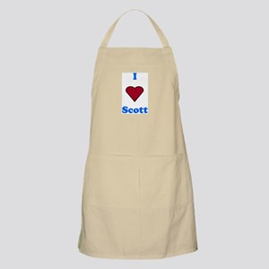 Heart Scott BBQ Apron