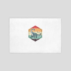 Retro Brontosaurus 4' x 6' Rug