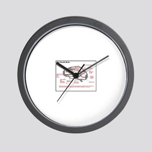 Neurology The Female Brain Wall Clock