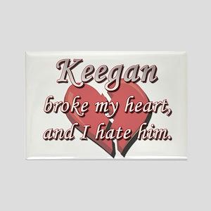 Keegan broke my heart and I hate him Rectangle Mag