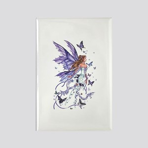 Purple Butterfly Fairy Rectangle Magnet