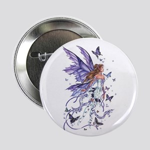 "Purple Butterfly Fairy 2.25"" Button"