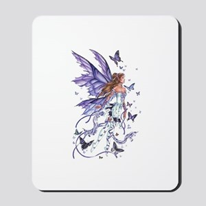 Purple Butterfly Fairy Mousepad