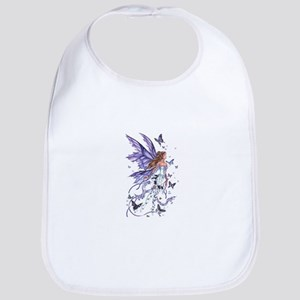 Purple Butterfly Fairy Bib