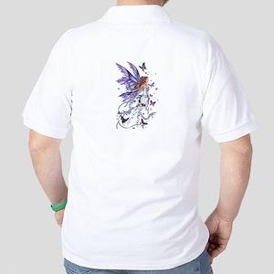 Purple Butterfly Fairy Polo Shirt