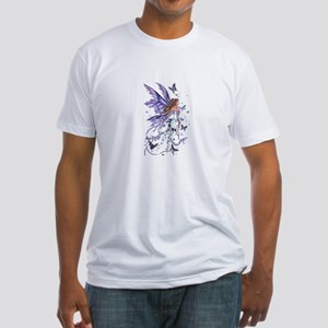 Purple Butterfly Fairy Fitted T-Shirt