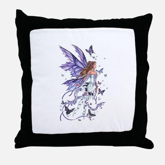 Purple Butterfly Fairy Throw Pillow