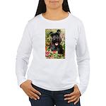 Black Miniature Schnauzer Women's Long Sleeve T-Sh