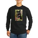 Black Miniature Schnauzer Long Sleeve Dark T-Shirt