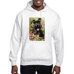 Black Miniature Schnauzer Hooded Sweatshirt
