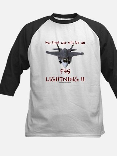 F35 Lightning II Kids Baseball Jersey