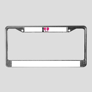 I Love Unicorns License Plate Frame