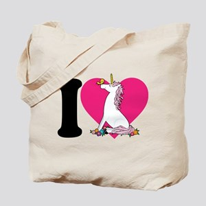 I Love Unicorns Tote Bag