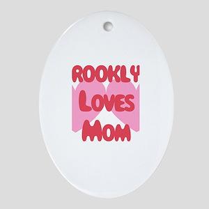 Brooklyn Loves Mom Oval Ornament