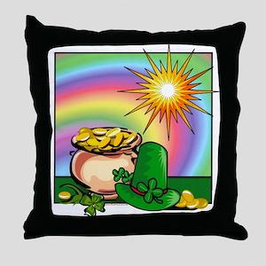 "Throw Pillow: ""Leprechaun Leftovers"""