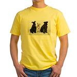 Black Miniature Schnauzer Yellow T-Shirt