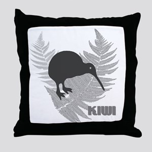 Silver Fern Kiwi Throw Pillow