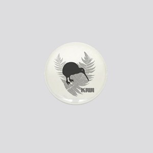 Silver Fern Kiwi Mini Button