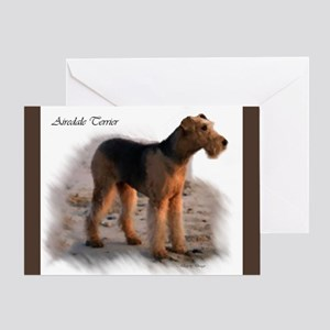 Airedale Terrier Art Greeting Card
