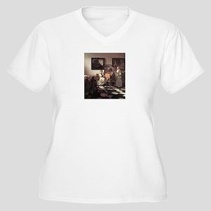 Vermeer Women's Plus Size V-Neck T-Shirt
