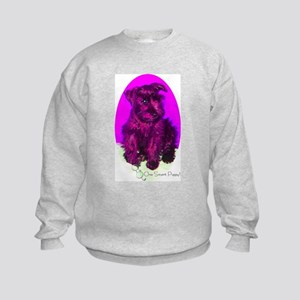 Black Miniature Schnauzer Kids Sweatshirt
