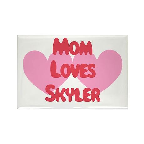 Mom Loves Skyler Rectangle Magnet