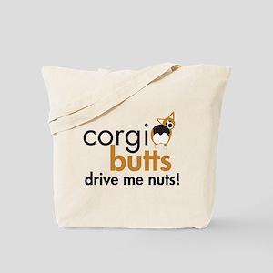 Corgi Butts Drive Me Nuts RHT Tote Bag