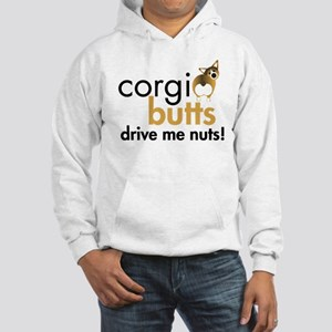 Corgi Butts Drive Me Nuts Sable Hooded Sweatshirt