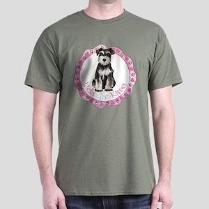 Miniature Schnauzer Valentine Dark T-Shirt