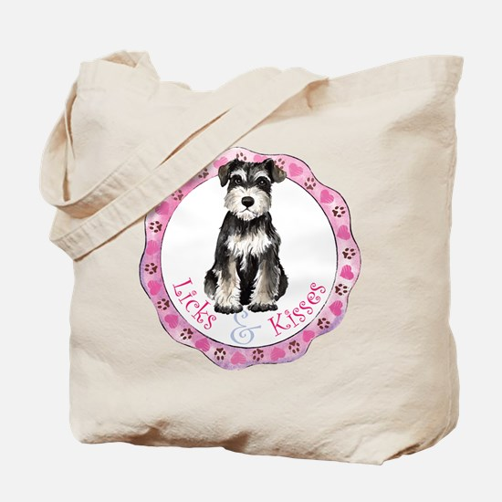 Miniature Schnauzer Valentine Tote Bag