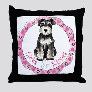 Miniature Schnauzer Valentine Throw Pillow