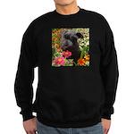 Black Miniature Schnauzer Sweatshirt (dark)