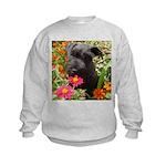 Black Miniature Schnauzer Kids Sweatshirt