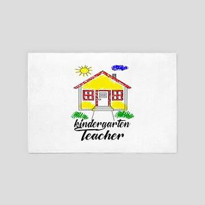 Kindergarten Teacher Drawing of a Hous 4' x 6' Rug
