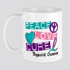 PEACE LOVE CURE Thyroid Cancer (L1) Mug