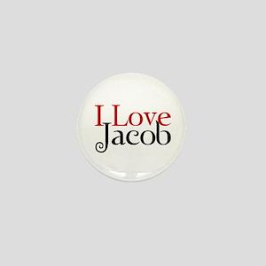 I Love Jacob Black Mini Button