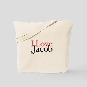 I Love Jacob Black Tote Bag