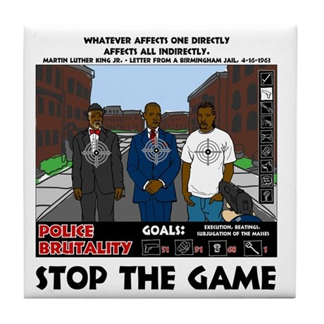 Stop The Game Tile Coaster