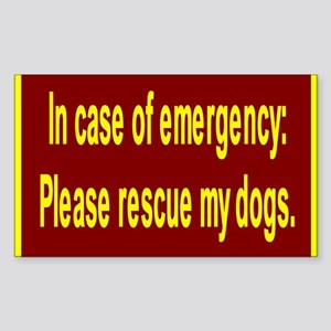 Save Dogs Rectangle Sticker